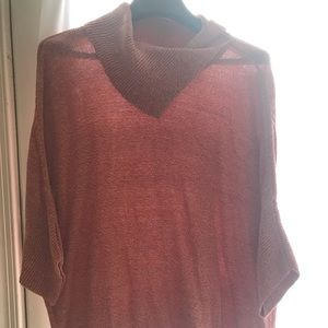 Cabi Med Red and White oversized Sweater